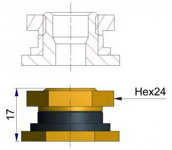 Гайка для установки вентилей TR SP2(V5.10.1) R-1842-1