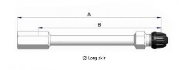 Прямой никелированный жесткий удлинитель S-4134-2